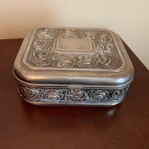 Vintage Jewelry Box - Silverplate